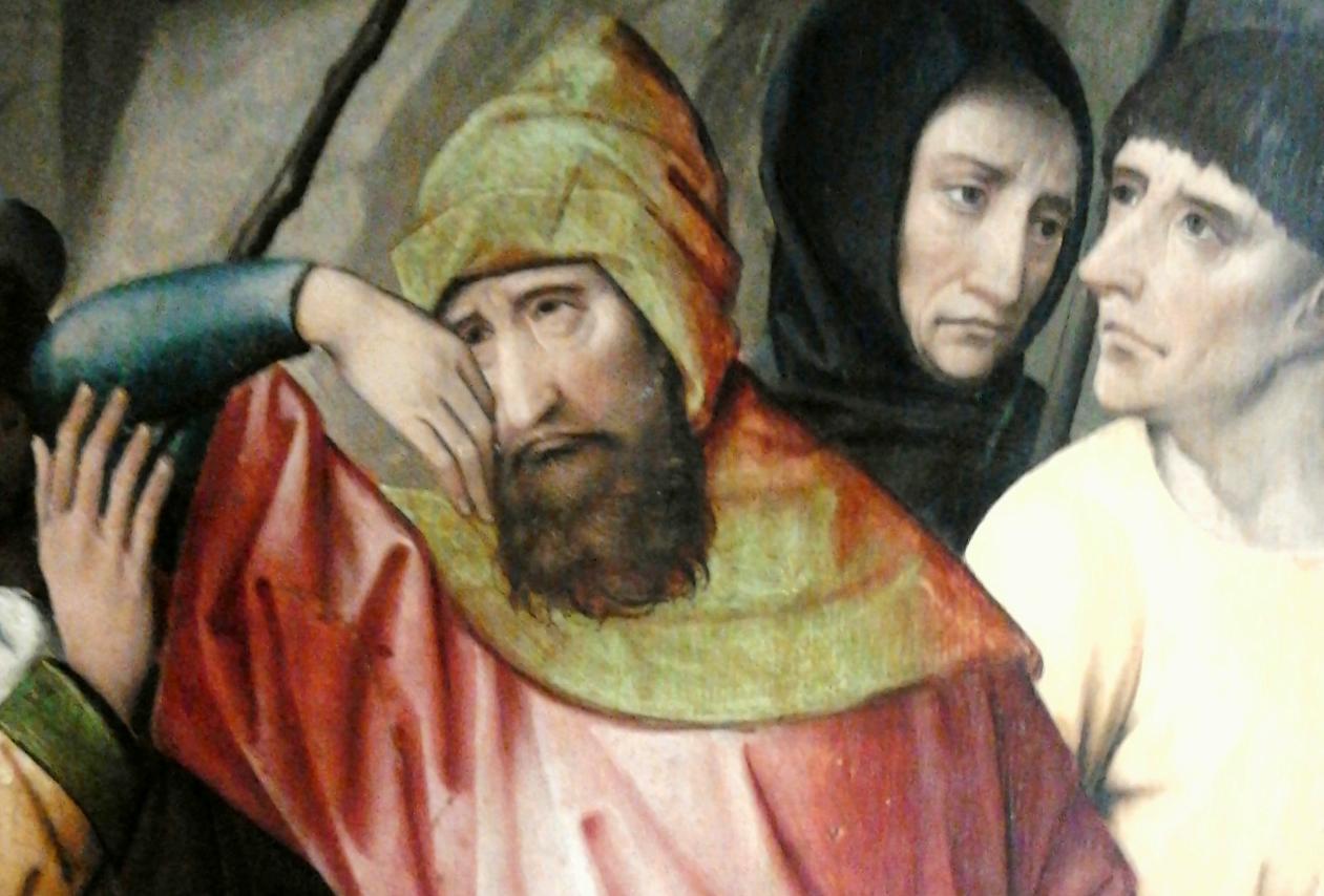 Реувен и его братья, фрагмент картины Колина де Котера, ок. 1500, (Национальный музей в Варшаве. Источник: Википедия)