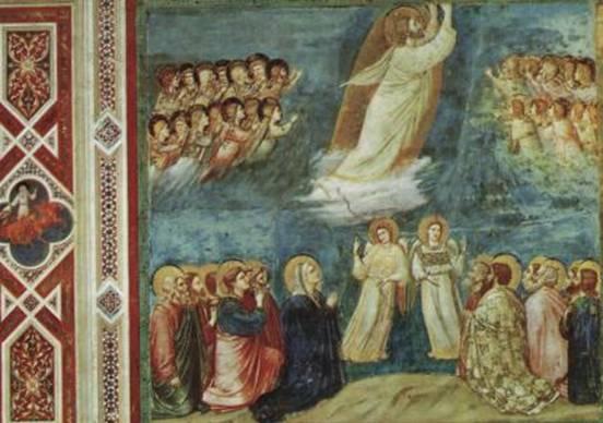 Джотто. Вознесение Христа (1304—1306). Падуя. Капелла Скровеньи.