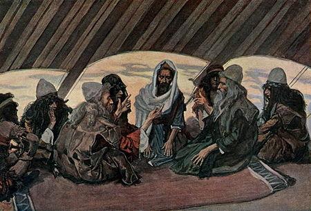 Джеймс Тиссо. Итро и Моисей. 1896 - 1902.