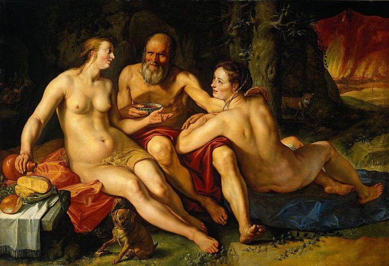 Лот и его дочери. Хендрик Гольциус, 1616