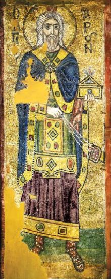 Первосвященник Аарон. Икона в Соборе Святой Софии (Киев), XI в.