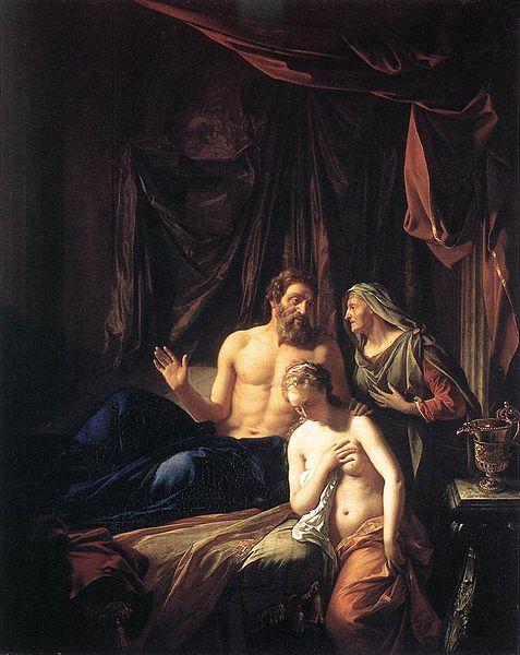 Сара показывает Агар Аврааму. Адриан ван дер Верфф, 1699