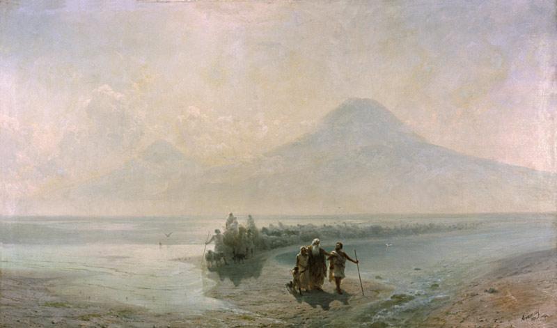 Сошествие Ноя с Арарата. Иван Айвазовский, 1889