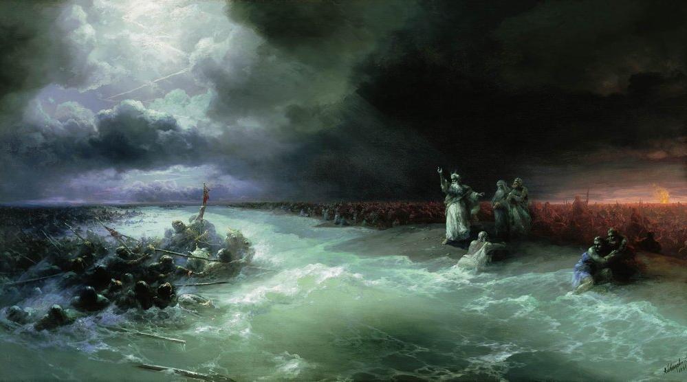 Переход евреев через Красное море. Иван Айвазовский, 1891