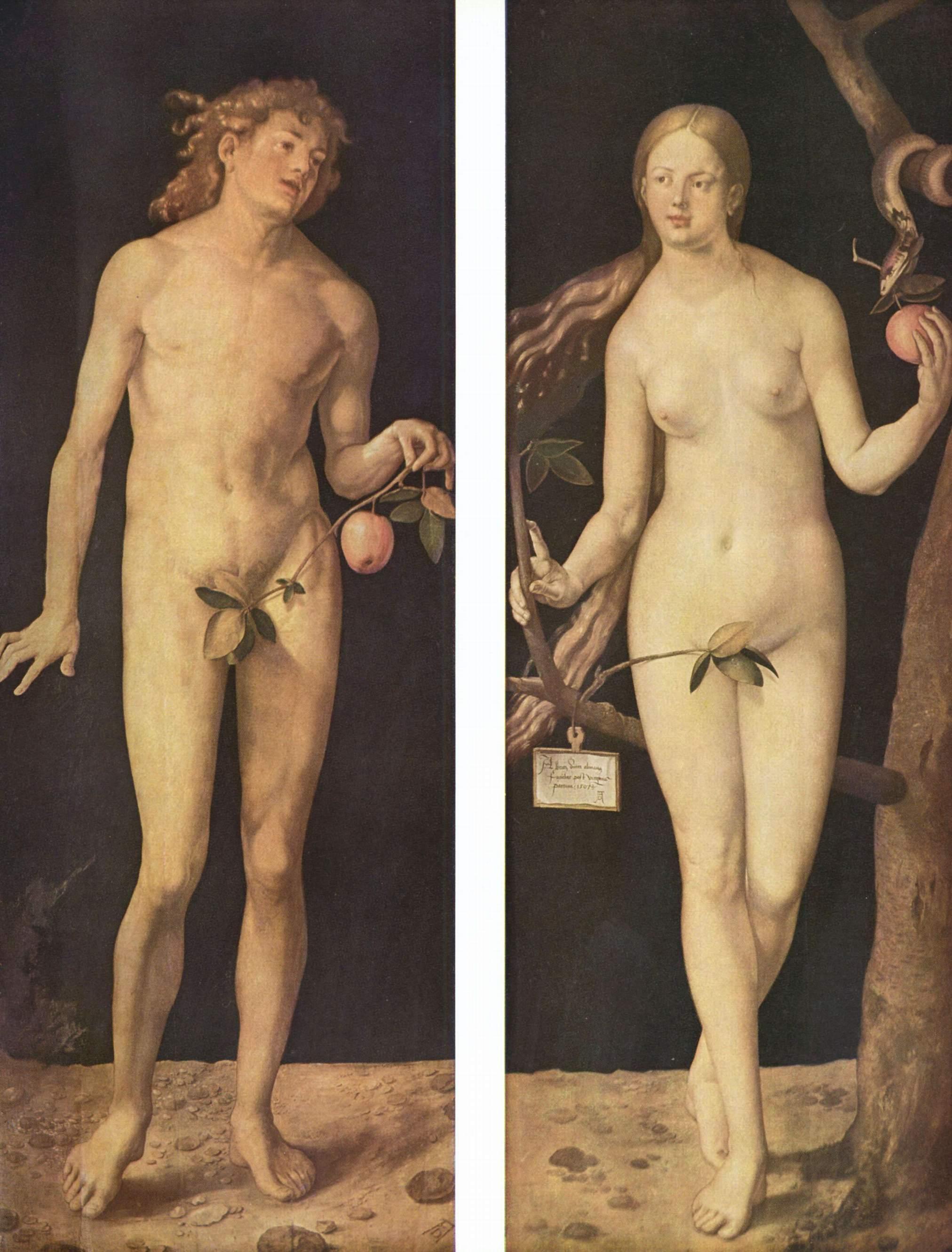 Адам и Ева. Диптих Альбрехта Дюрера, 1507