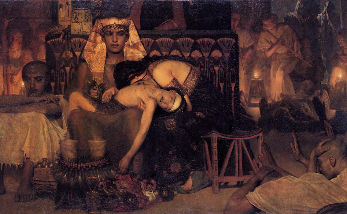 Смерть первенца фараона. Лоуренс Альма-Тадема, 1872