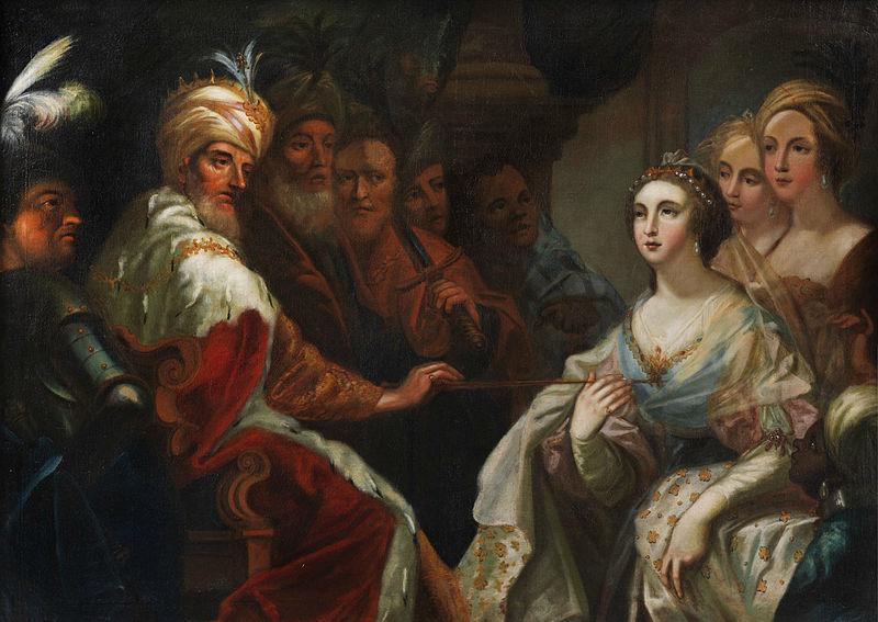 Эстер перед царем Ахашверошем. Андреа Челести, XVII в.