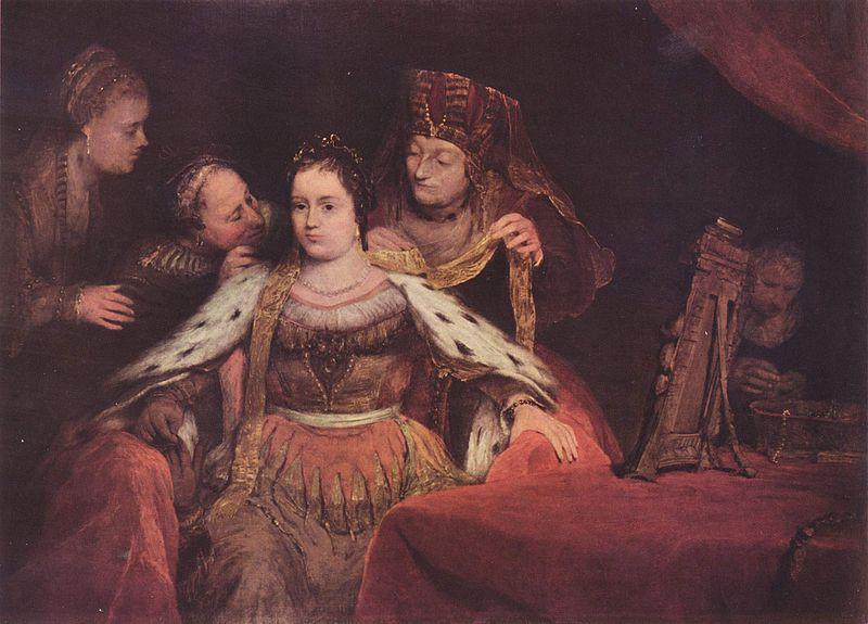 Эстер прихорашивается. Арент де Гелдер, 1684