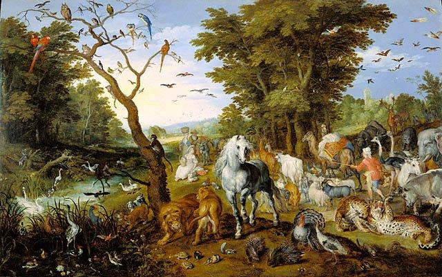 Вхождение животных в Ноев ковчег. Ян Брейгель Старший, 1613