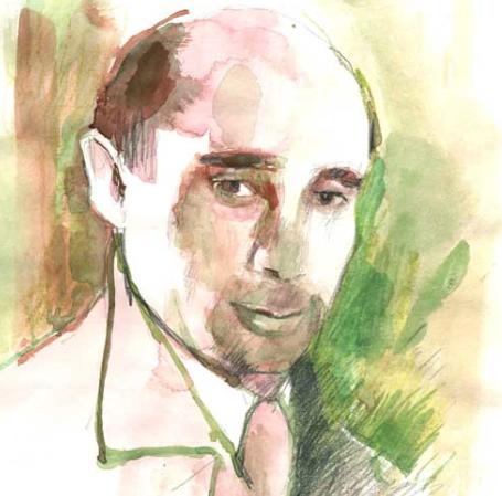 Портрет Авраама Хальфи, художник Реут Амрани
