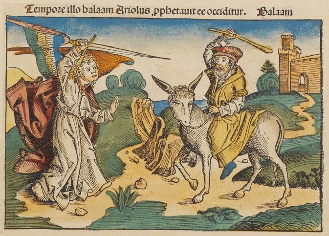 Билеам и ангел. Иллюстрация 1493 г.
