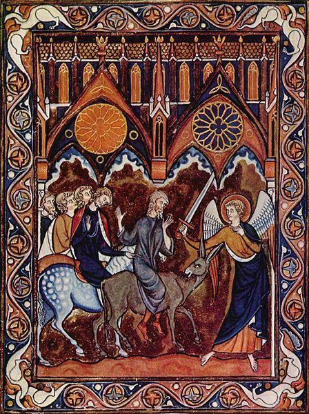 Билеам и Божий посланник. Иллюстрация 1258-1270 гг.