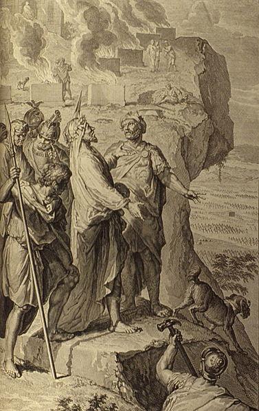 Билеам благословляет народ Израиля. Герард Хоет, 1728