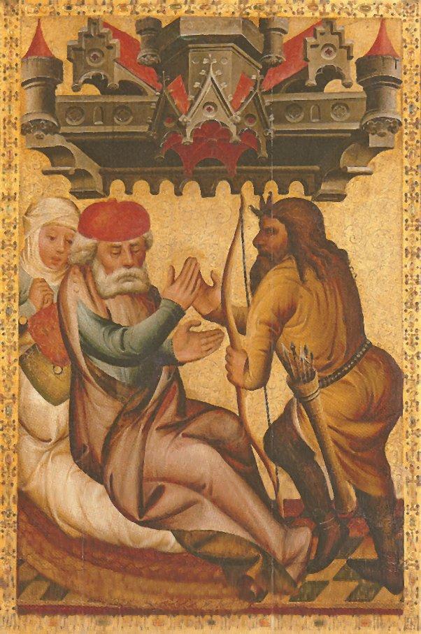 Йицхак просит Эсава принести ему дичи. Бертрам из Миндена, XIV в.