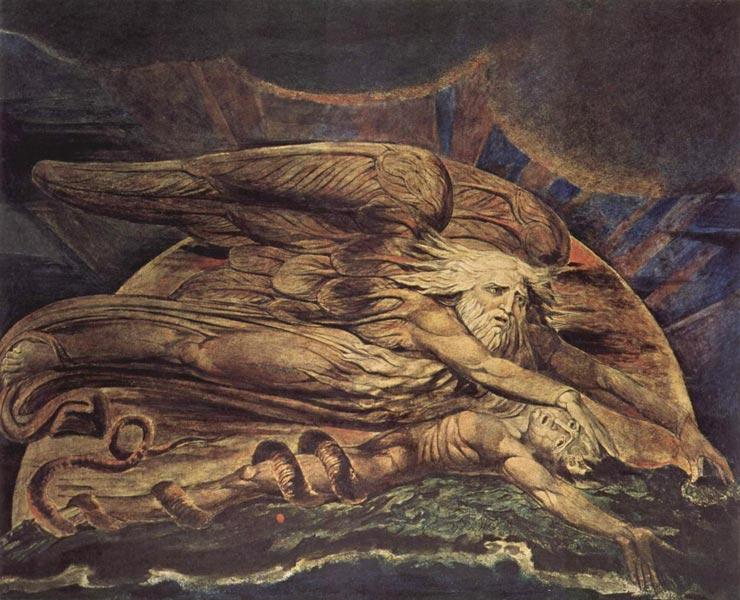 Элохим, создающий Адама. Уильям Блейк, 1795