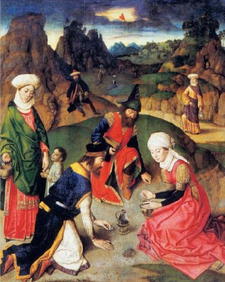 Сбор манны. Дирк Баутс, 1465