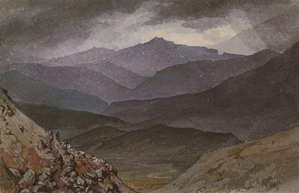 Дорога на Синай после шторма. Карл Брюллов, 1835