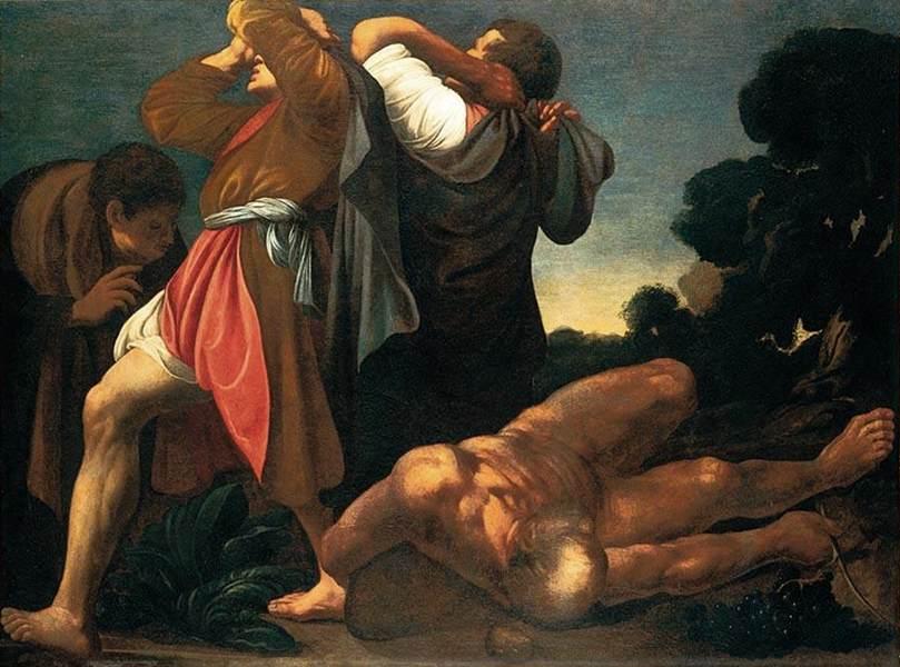 Опьянение Ноаха. Карло Сарачени, XVII век