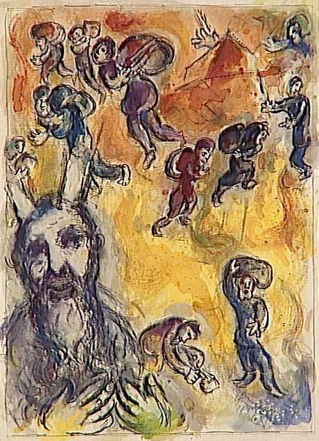 Моше видит страдания своего народа. Марк Шагал, 1966