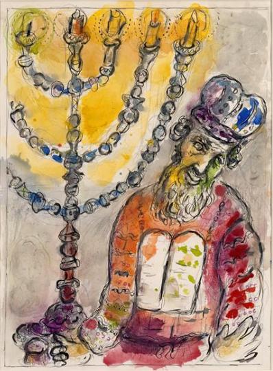 Посвящение Аарона и его сыновей. Марк Шагал, 1965