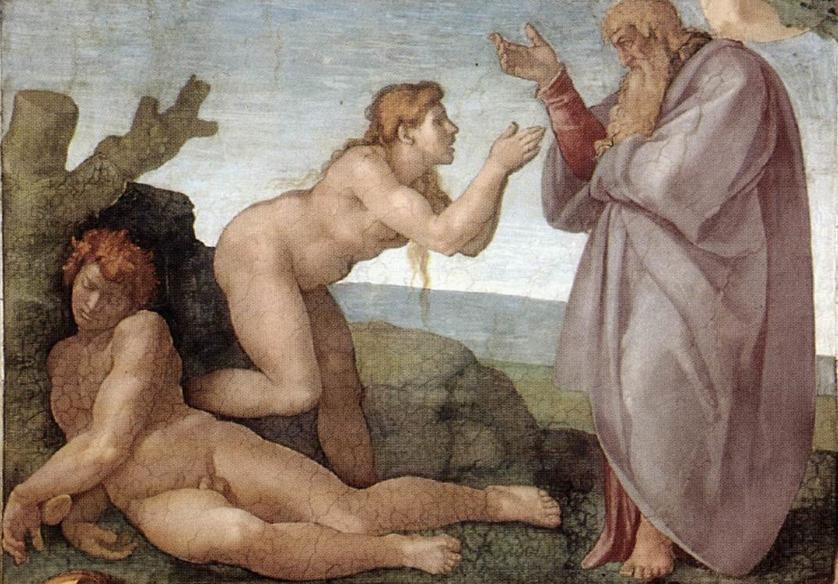 «Сотворение Евы», Микеланджело