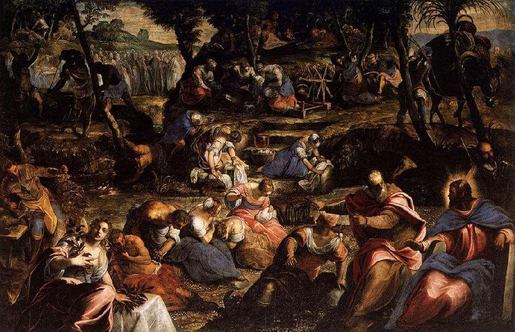 Евреи в пустыне. Тинторетто, 1593