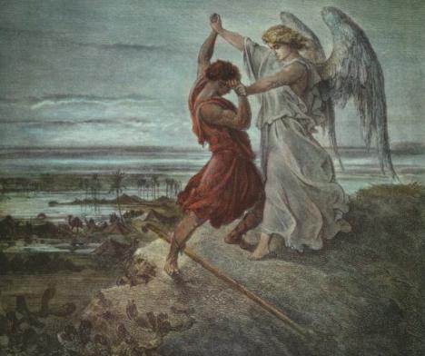 «Йааков, борющийся с ангелом», Гюстав Доре