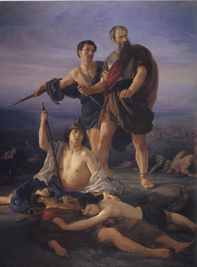 Эли Маркузе. Смерть царя Саула. 1848.