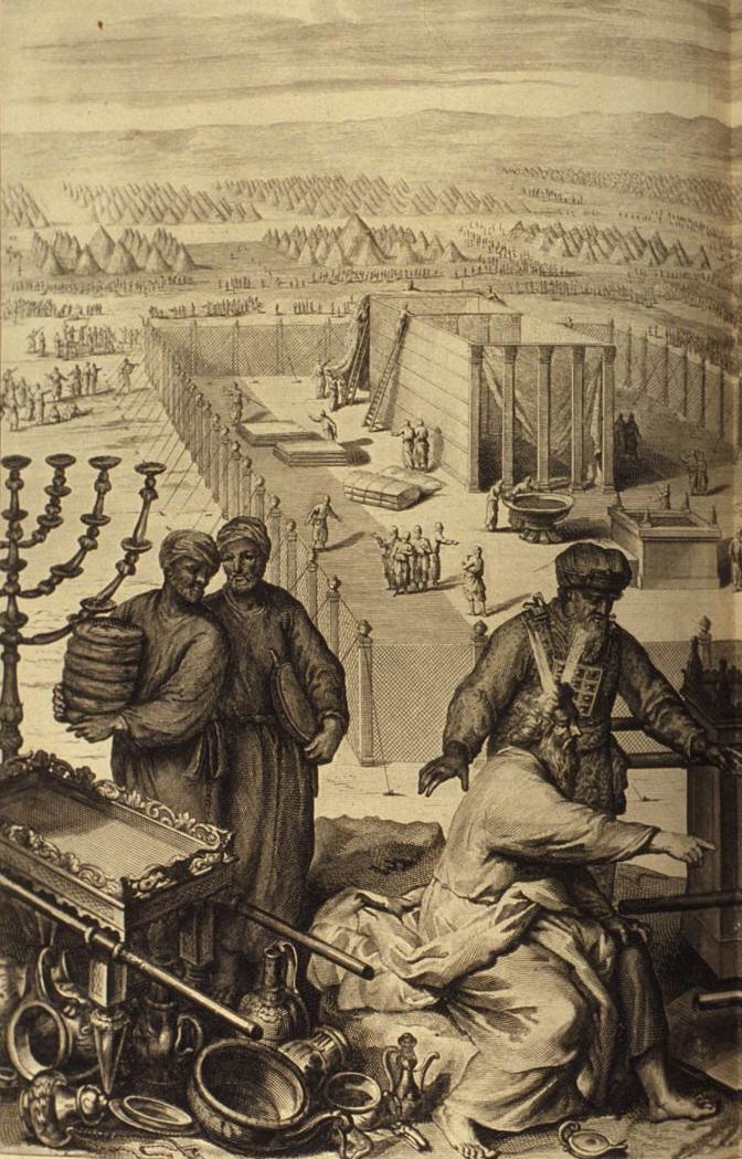 Возведение Скинии. Иллюстрация Герарда Хоета, 1728