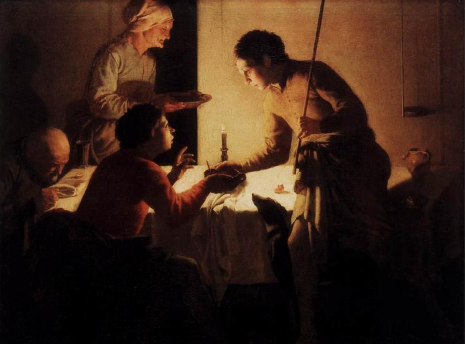 Эсав продает свое первородство. Хендрик Тербрюгген, ок. 1627