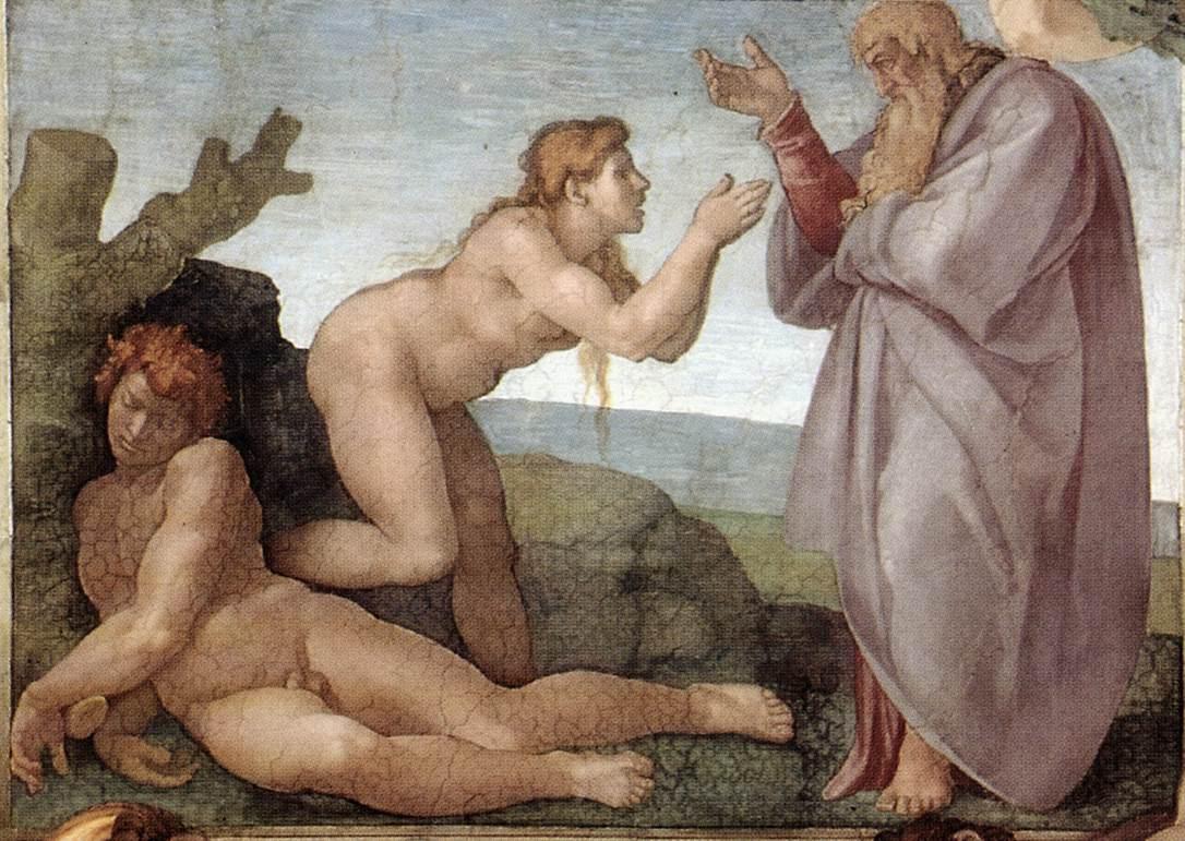 Сотворение Евы. Фреска Микеланджело, 1509-10