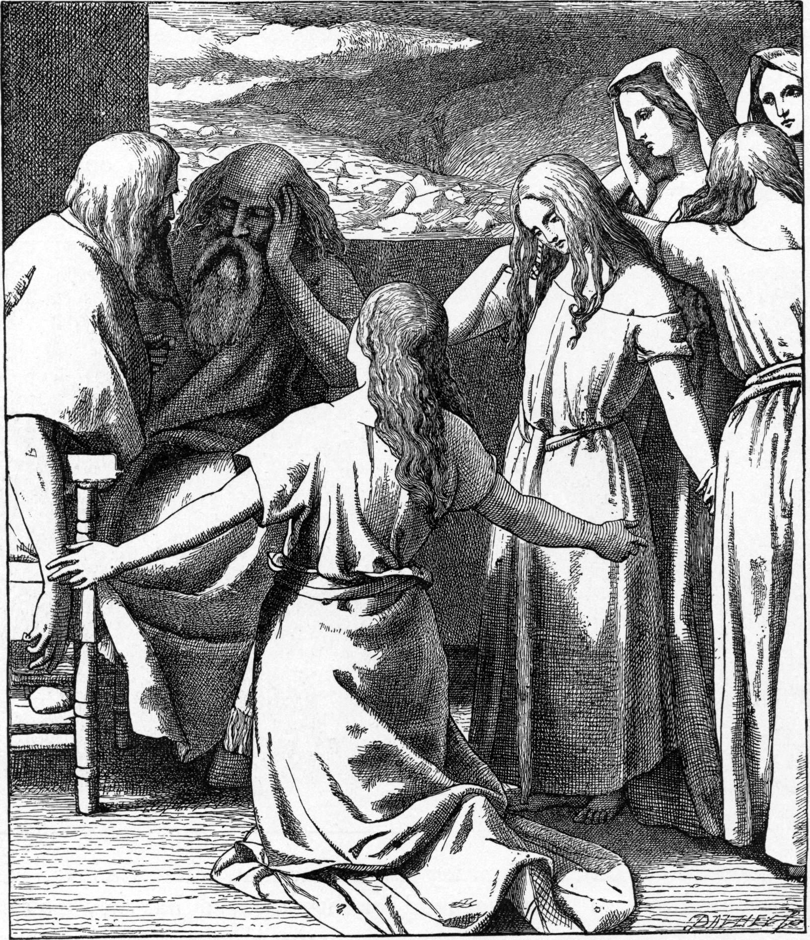 Дочери Целофада. Иллюстрированная Библия Фостера.