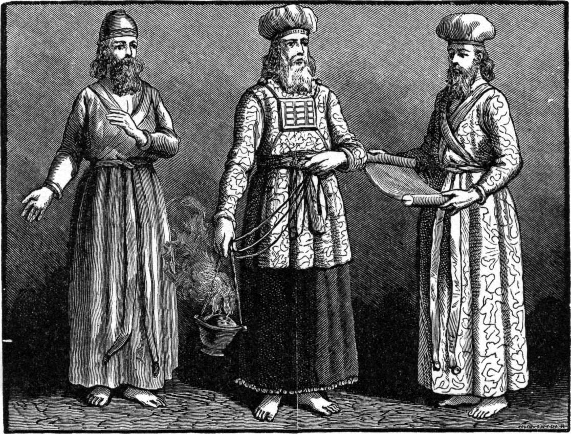 Первосвященник и жрецы. Иллюстрация к изданию Библии Чарльза Фостера, 1897