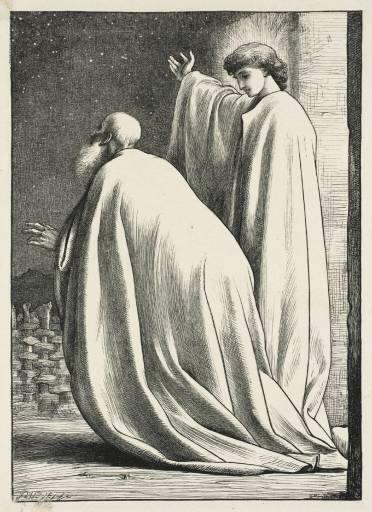 Авраам и ангел. Фредерик Лейтон, 1881