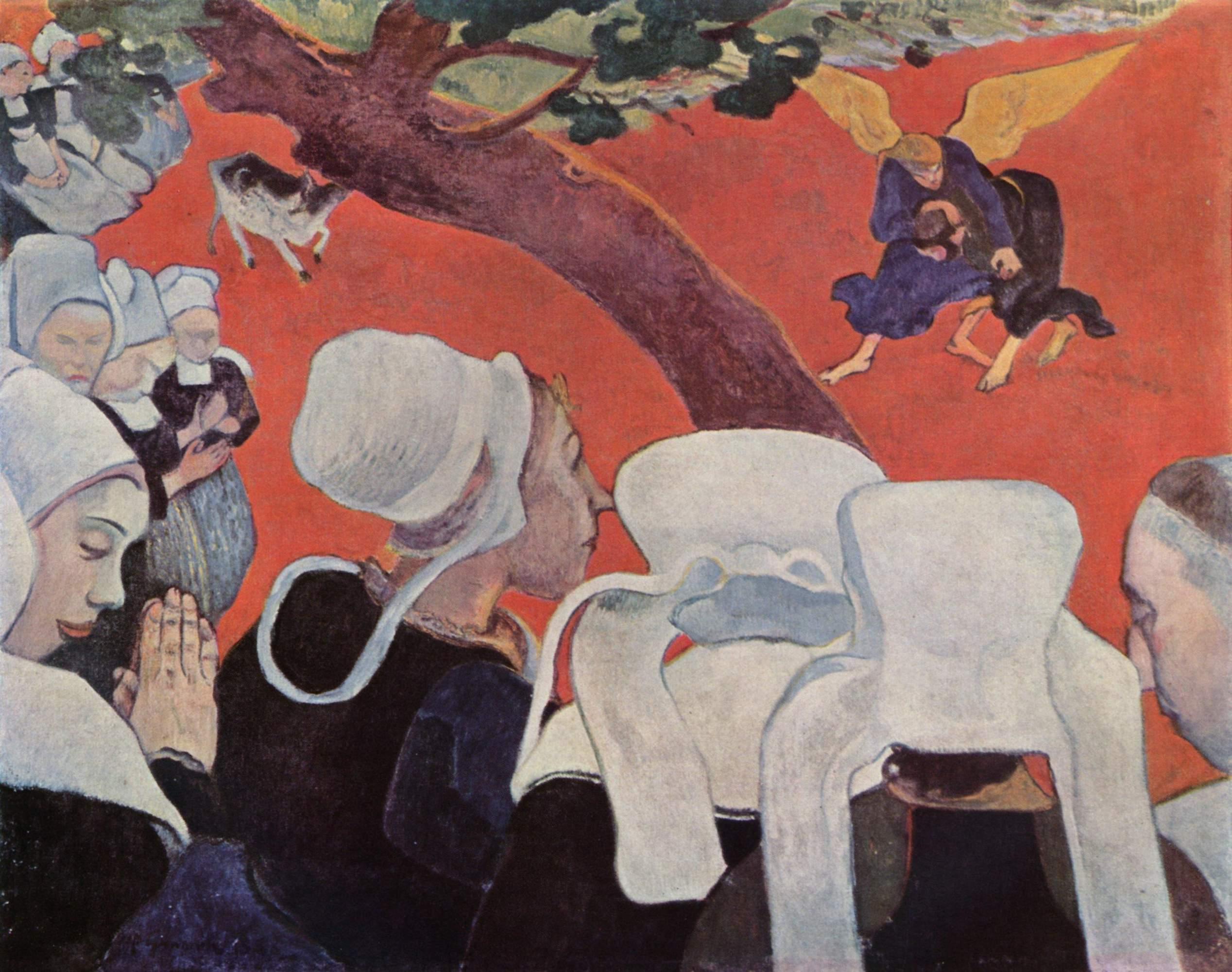 Видение после проповеди (Борьба Йаакова с ангелом). Поль Гоген, 1888
