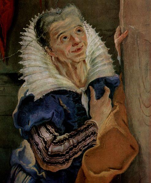 Сара. Фрагмент фрески Джованни Баттисты Тьеполо, 1726-1728
