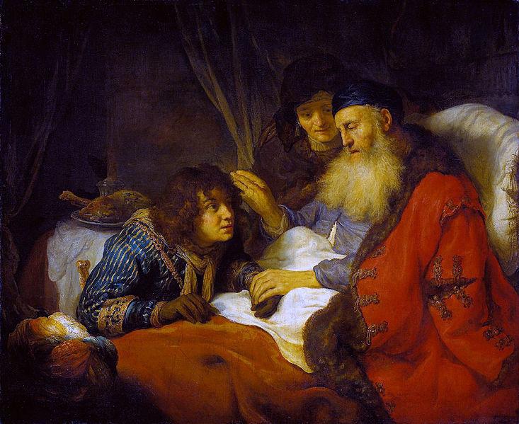 Йицхак благословляет Йаакова. Говерт Флинк, 1638