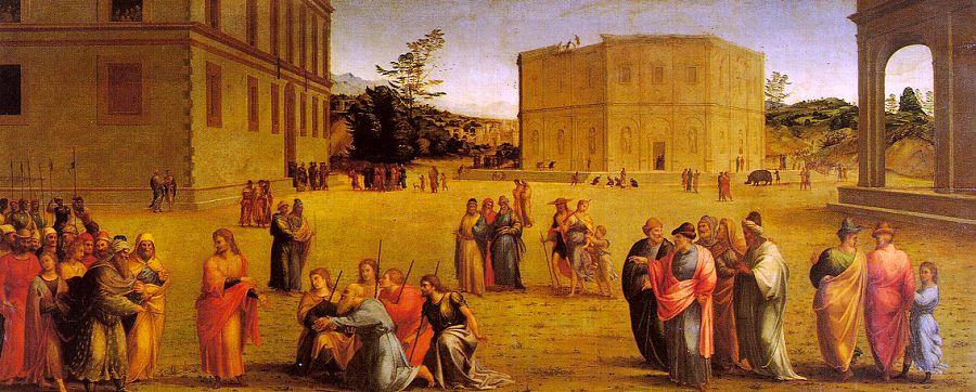 Йосеф представляет своего отца и братьев фараону. Франческо Граначчи, XVI в.