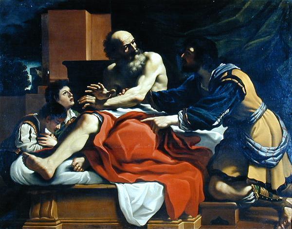 Йааков благословляет Эфрайима и Менаше. Гверчино, XVII в.