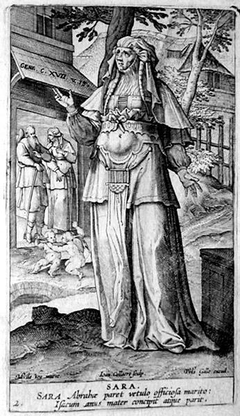Сара. Гравюра Ханса Колларта, ок. 1581