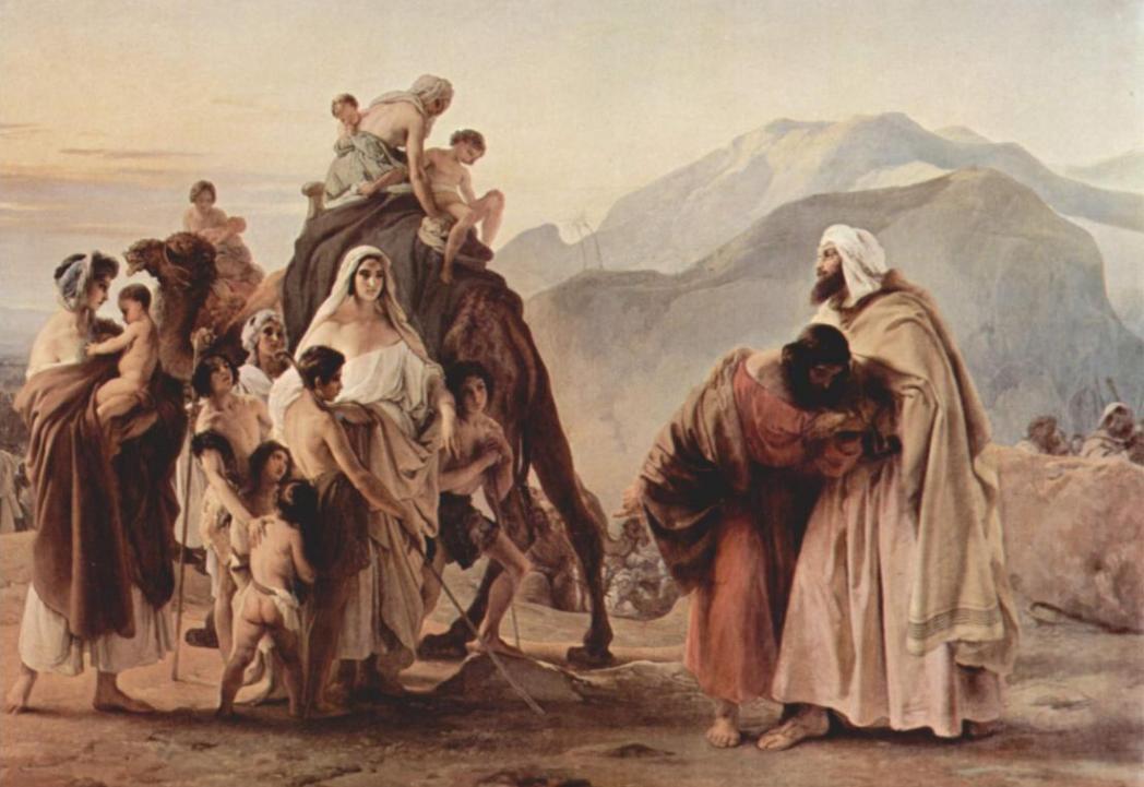 Встреча Йаакова и Эсава. Франческо Хайес, 1844