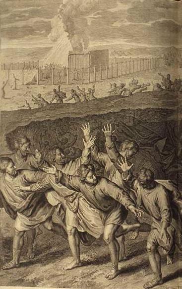 Гибель Кораха и его сообщников. Герард Хоет, 1728