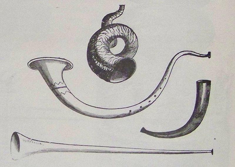 Серебряные трубы. Иллюстрация к изданию Библии, 1890