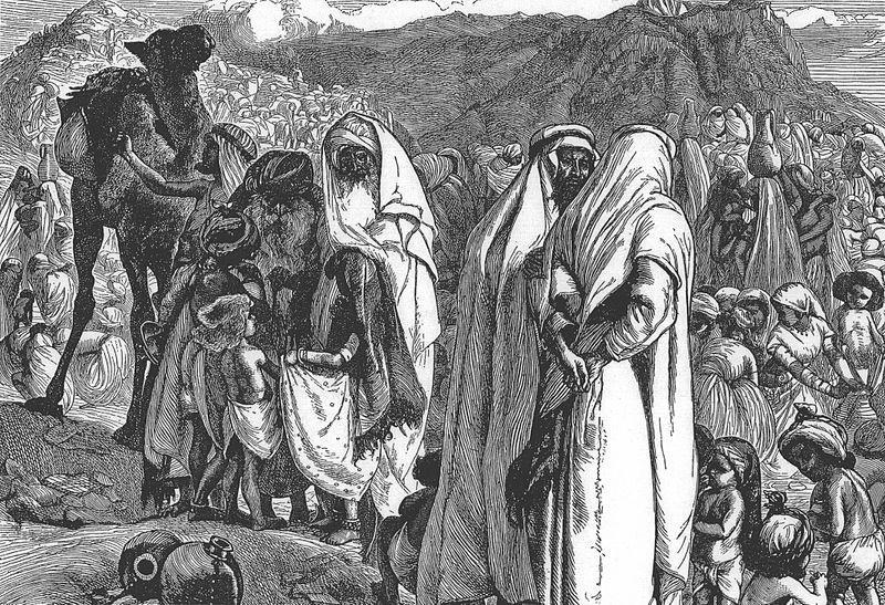 Сыны Реувена и Гада просят Моше разрешить им поселиться в Гилеаде. Артур Бойд Хьютон, XIX в.