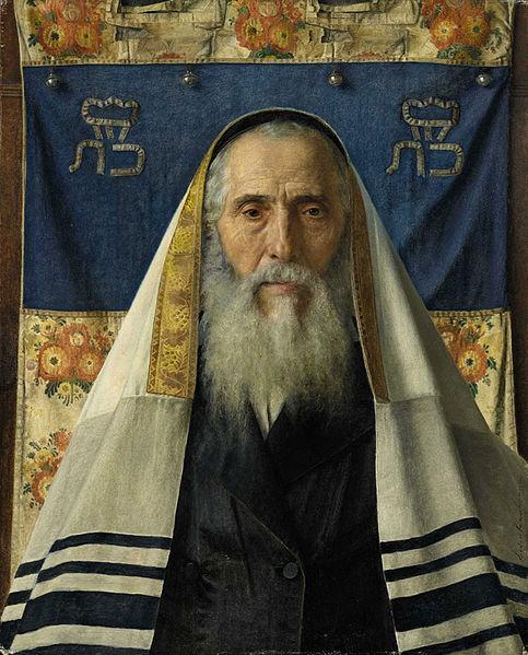 Портрет раввина в молитвенном покрывале. Исидор Кауфман, XIX в.