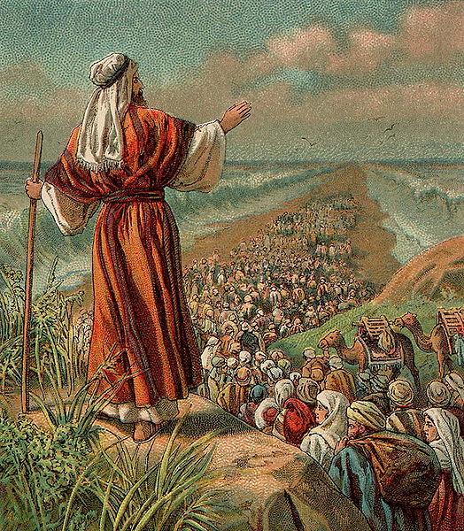 Израильтяне покидают Египет. Иллюстрация 1907 года