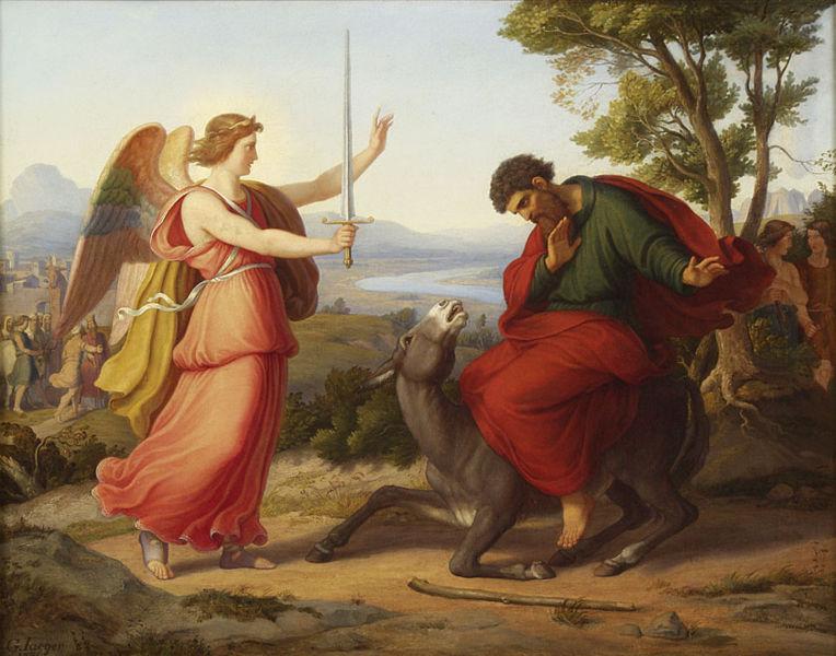 Билеам и Божий посланник. Густав Йегер, 1836