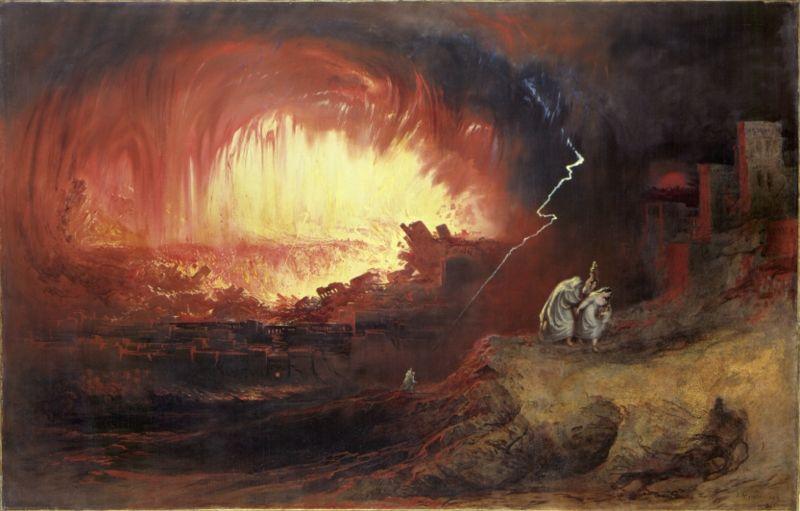 Разрушение Седома и Аморы. Джон Мартин, 1852