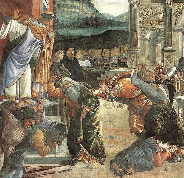 Наказание Кораха. Сандро Боттичелли, XV в.