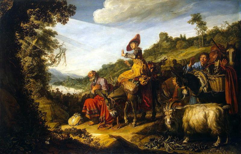 Авраам на пути в Кенаан. Питер Ластман, 1614